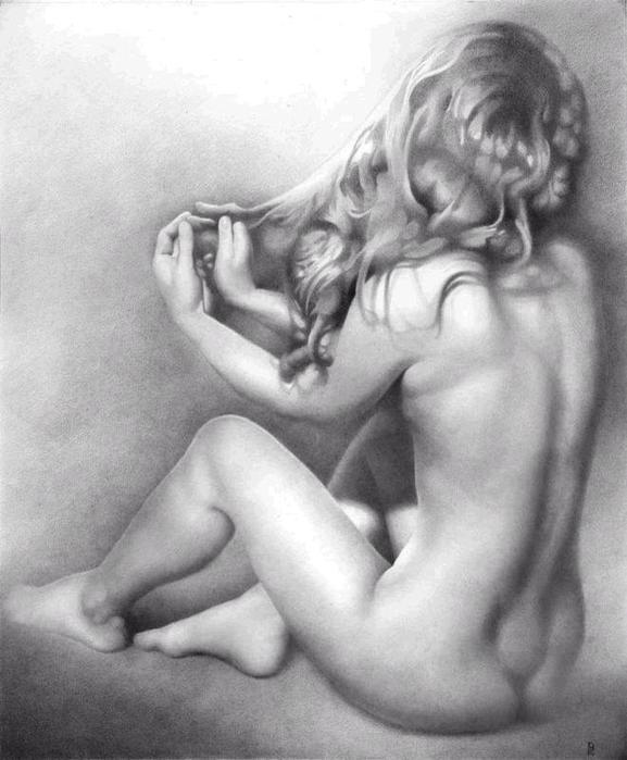 Art nude drawing — 6