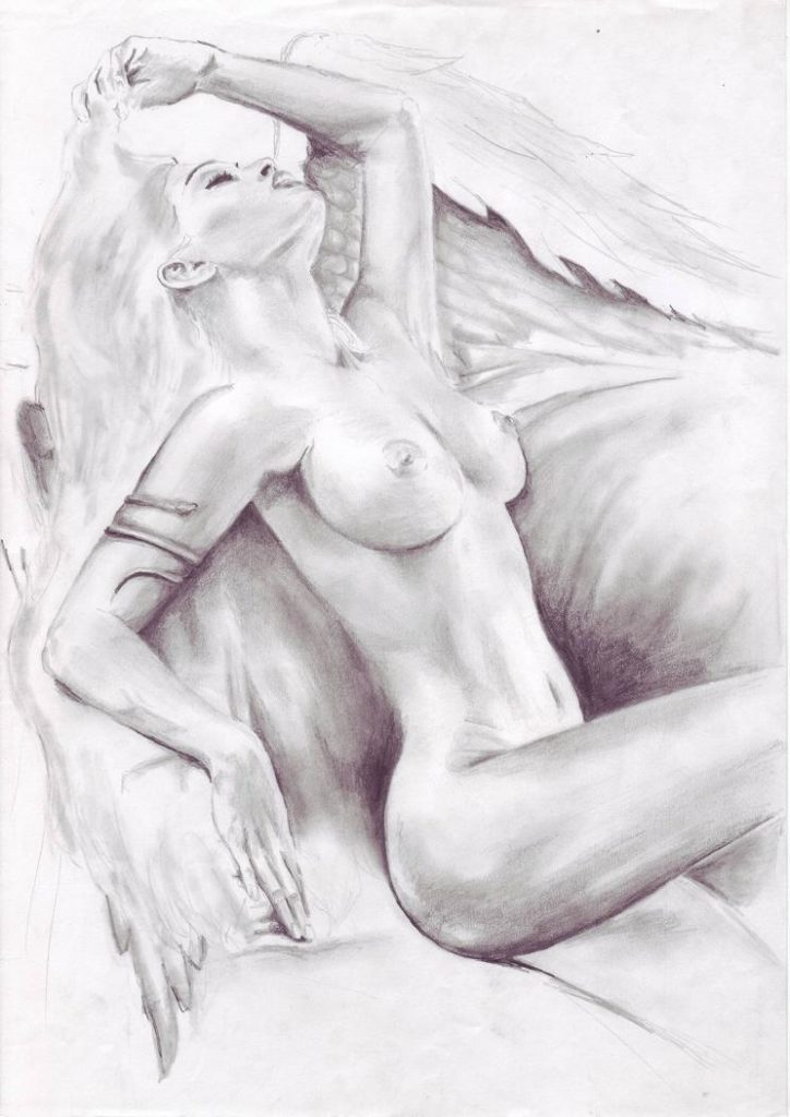 pencil-drawing-of-a-women-naked